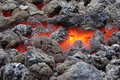 Burning coal red hot close up Royalty Free Stock Photo