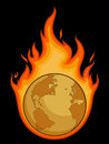 Burning Desolated Earth Royalty Free Stock Image