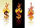Burning dollar Royalty Free Stock Image