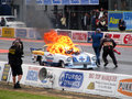 Burning drag car Royalty Free Stock Photography
