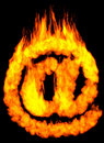 Burning E-mail Symbol AT Royalty Free Stock Photo