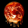 Burning earth melting Stock Photography