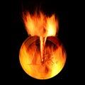 Burning euro