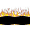 Burning Film Strip Stock Photography