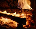 Burning fire background Royalty Free Stock Photo