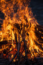 Burning fire beautiful large flames Royalty Free Stock Images