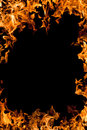 Burning fire frame abstract background Royalty Free Stock Image