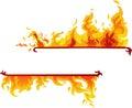Hořící plamen reklamní formát primárně určen pro použití na webových stránkách (vektor)