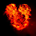 Burning heart Royalty Free Stock Photo