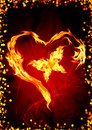 Burning heart Stock Images