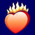 Burning heart Stock Photography