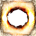 Burning Hole Stock Image