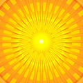 Burning Hot Summer Sun Mandala Royalty Free Stock Photo