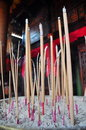 Burning incense sticks Stock Photo
