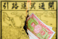 Burning Joss Paper Stock Images