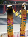 Burning joss stick Royalty Free Stock Photo