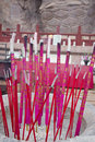 Burning joss sticks Royalty Free Stock Photography