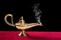 Burning magic lamp Stock Photo