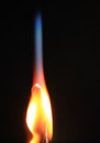 Burning match Stock Photography