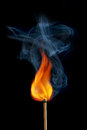 Burning match Royalty Free Stock Images