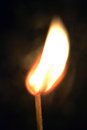 Burning matchstick the flame inspiration Royalty Free Stock Photo