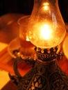 Burning oil lamp Royalty Free Stock Photo