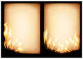 Burning old paper Royalty Free Stock Image