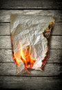 Burning paper Stock Images