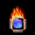 Burning Processor Stock Images