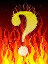 Burning question Royalty Free Stock Images