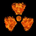Burning radioactive symbol Royalty Free Stock Photography