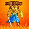 Burning Ravana in Dussehra