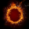 Burning ring Royalty Free Stock Images