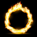 Burning ring. Stock illustration. Royalty Free Stock Photo