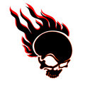 Burning skull 2 Royalty Free Stock Image