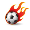 Burning soccer ball on white eps illustration Stock Photo