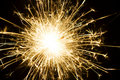 Burning sparkler firework Stock Photography