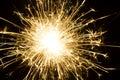 Burning sparkler firework Royalty Free Stock Photo