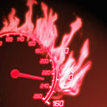 Burning speedometer Royalty Free Stock Photography