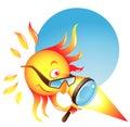 Burning Sun Royalty Free Stock Photo