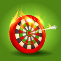 Burning target design on green background eps Stock Image