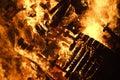 Burning Wood Bonfire Royalty Free Stock Photo