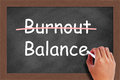 Burnout Balance Concept Royalty Free Stock Photo