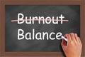 Burnout Balance Concept
