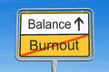Burnout and balance sign Royalty Free Stock Photo