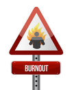 Burnout road sign illustration design over a white background Royalty Free Stock Photo