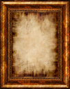 Burnt Antique Framed Parchment Royalty Free Stock Photo