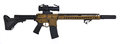 Burnt Bronze AR15 with suppresor and 30rd mag Royalty Free Stock Photo