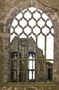 Burnt cathedral next to the holyrood palace in edinburgh scotland Royalty Free Stock Images