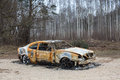 Burnt out rusted old car Royalty Free Stock Photo